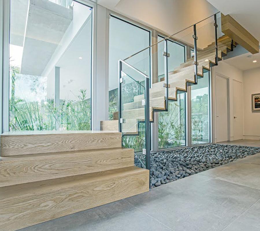 Parapetti per scale cristallo • Serramenti& serramenti